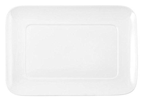 HOTELWARE Plat rectangulaire, 23 x 16.5 cm, Porcelaine, Blanc