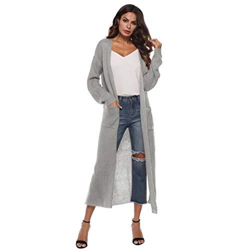 MIRRAY Damen Long Sleeve Open Cape Casual Mantel Bluse Kimono Jacke Herbst Strickjacke