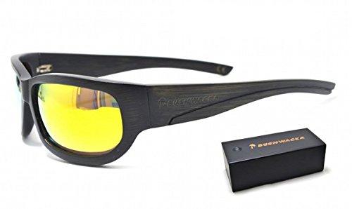 Neu Bushwacka Sierra Gold Polarisiert Handgefertigte Sonnenbrille aus Holz Gebogene Designer-Sonnenbrille Holz Sonnenbrillen