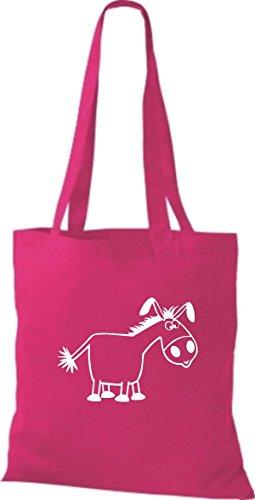 Shirtstown Stoffbeutel Tiere Esel pink