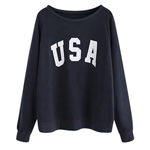 Cenday Sweatshirt Damen Lange Ärmel Mit Briefdruck Frau Oben Lange Ärmel Ausschnitt Lange Ärmel Sweatshirt Top Lässig Mode Classic Loose Large Size - Zeit Ringer T-shirt