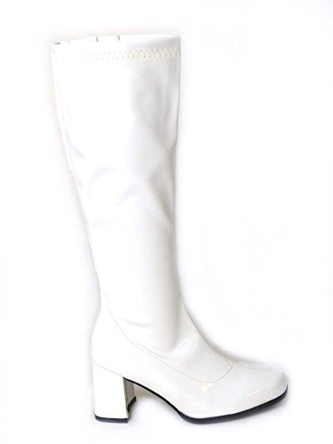 Ladies Low-Cost White Go Go Boots. Many colours. Sizes 3, 4, 5, 6, 7, 8