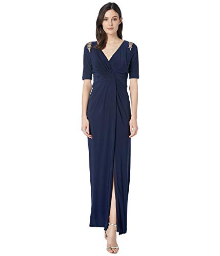 Adrianna Papell Women's Embellished Trim Jersey Evening Gown -