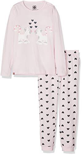 LEGO Baby-Mädchen Zweiteiliger Schlafanzug Duplo Girl CM-73447 Pyjama, Rosa (Rose 404), 98