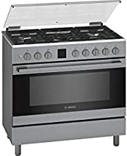 Bosch 90X60 cm 5 Gas Burners Gas Cooker, Stainless Steel - Hgk90vq50m