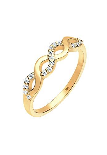 Diamore Damen Ring Infinity 585 Gelbgold Diamant weiß 0,18 ct Brillantschliff Gr.56 (17,8) 0604640414_56