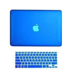 Topideal 2en 1mate esmerilado carcasa rígida Carcasa para 13pulgadas blanco Unibody MacBook 13(modelo: A1342/Liberado después de octubre de 2009) + Keyboard Cover, plástico, azul real, 13 pulgadas