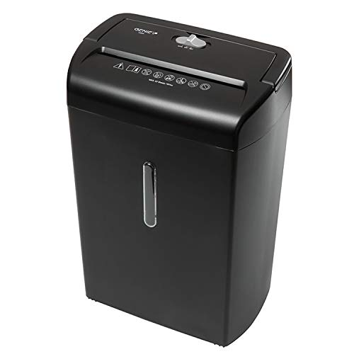 Genie 1200XCD ad alta sicurezza distruggi documenti (fino a 12fogli, Frammenti-shredder, incluso cestino) nero