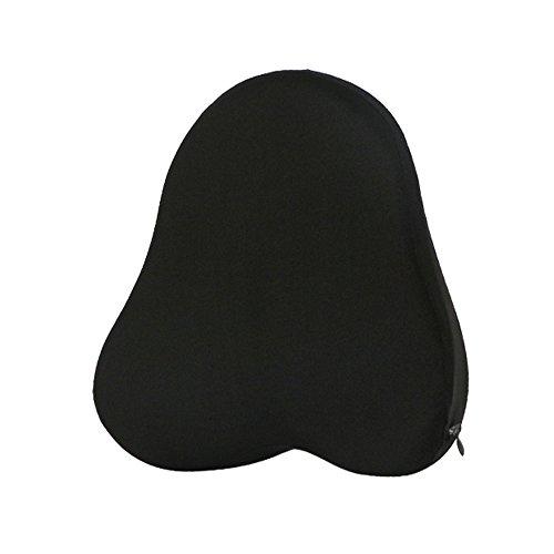 LOCEN Almohada de apoyo lumbar de espuma con efecto memoria para coche, viaje, oficina, casa, alivio de dolor de espalda baja, disco