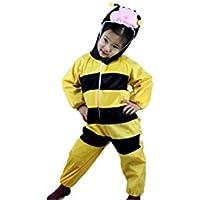 Niños Disfraces de animales Niños Niñas Unisex Disfraces cosplay Niños onesie (Abeja, M (Para niños de 90 a 105 cm de altura))