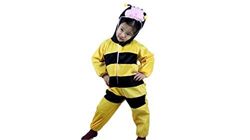 (Kinder Tierkostüme Jungen Mädchen Unisex Kostüm Outfit Cosplay Kinder Strampelanzug (Biene, XL (Für Kinder von 120 bis 140 cm)))