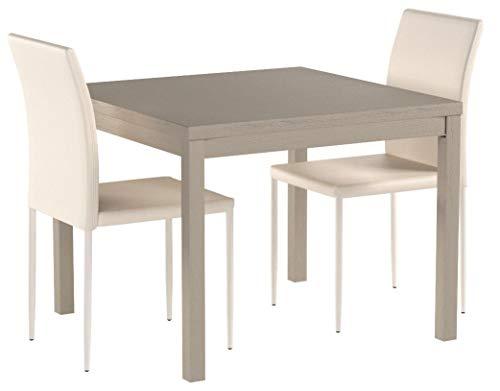 Lo Scrigno Arredamenti, Tavolo quadrato allungabile a libro rovere grigio 90-180 W566/M