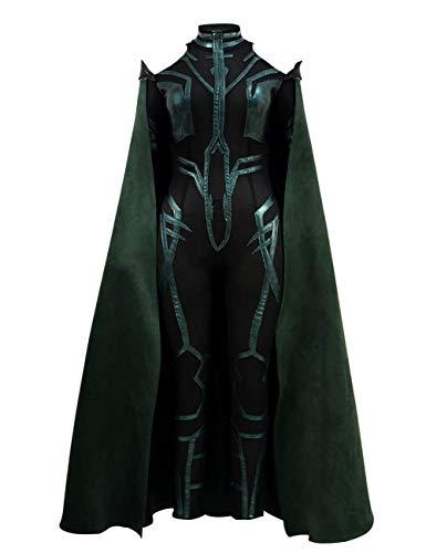 Zhangjianwangluokeji Hela Kostüm Cosplay Halloween Grüner Komplett Jumpsuit für Frauen (M, Grün 2) (Kostüm Für Frauen Loki)