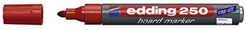 Preisvergleich Produktbild Edding Whiteboardmarker 250, nachfüllbar, 1.5 - 3 mm, rot