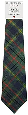 Mens All Wool Tie Woven Scotland - Taylor Weathered Tartan