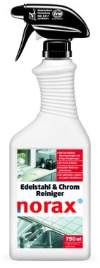Preisvergleich Produktbild norax Edelstahl & Chrom Reiniger 750 ml - Löst hartnäckige Verschmutzungen und fettige Ablagerungen auf allen gebürsteten, polierten und glatten Edelstahloberflächen