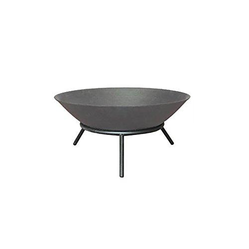 Home Deluxe - Feuerschale in grau- Grey Bowl - Ø 56 cm - Inkl. DREI Stahlbeine - In verschiedenen Farben erhältlich