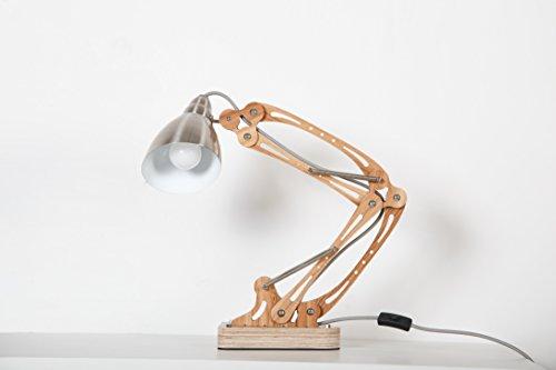 KADIMA DESIGN 1x Tischleuchte Tischlampe Tree-Hugger Asche, Kabel -