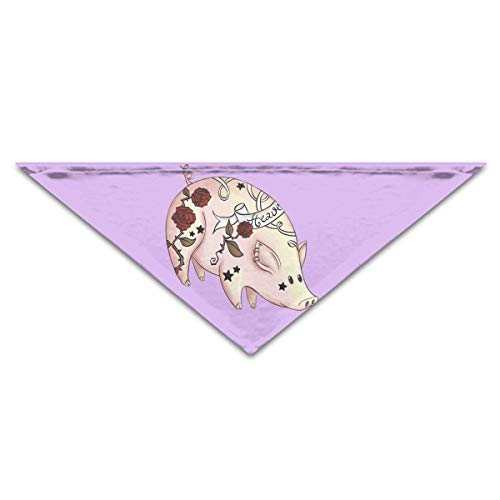 Osmykqe Schöne Tattoo PigDog Geburtstag Haustier Bandana Halsbänder für Hunde und Katzen