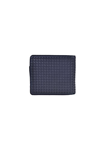 Nixon Satellite Big Bill Bi-Fold ID Coin Wallet Münzbörse, All Schwarz Indigo