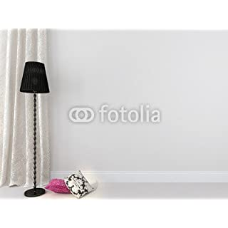 adrium Black Floor Lamp Against A White Background (62538264), canvas, 110 x 80 cm