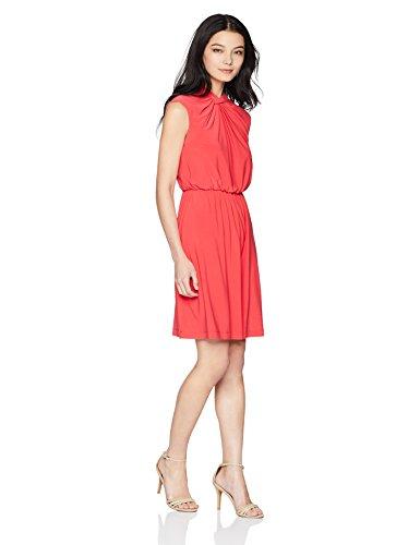 Adrianna Papell Damen Petite Matte Jersey FIT and Flare Dress Kleid, Geranium, 34 Zierlich Petite Matte Jersey