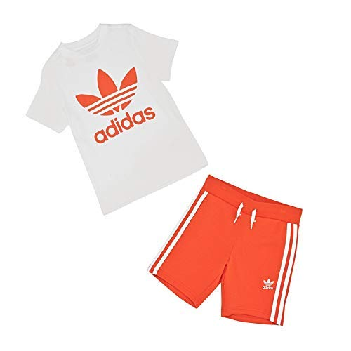 adidas Short Tee Set Apparel Others, Babys Baseballs L Blau/Weiß (Legend Marine/White)