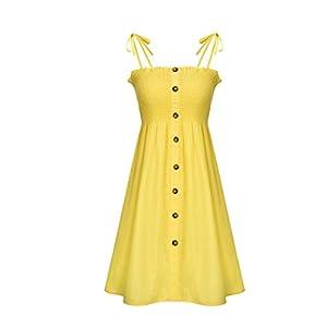 Herian Damen Kleid Mädchen Taste Tunika Petticoat Kleider Faltenrock Schlupfkleid Skaterkleid