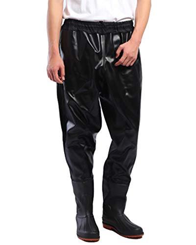 Impermeable Pantalones Vadeadores De Pesca Medio Cuerpo Botas Waders para Pesca De...