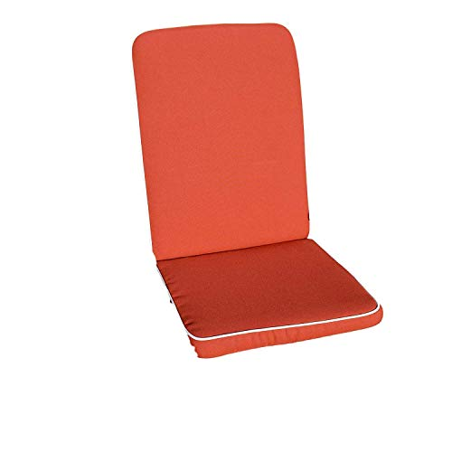 Coussin de luxe de chaise (siege et arriere) - utilisation interieure/exterieure - lot de 2 - coussins UNIQUEMENT - couleur Terra Cuite