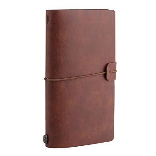 Retro Hardcover Notebook Spiral Kunstleder Soft Copy Book Notebook Für Studenten Werbegeschenke Milch Notebook Notizen Braun 20 * 12 * 2,5 Cm