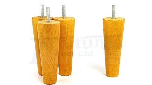Knightsbrandnu2u 4x Möbel Füße Massiv Holz Ersatz Möbel Beine, Sofas, Stühle, Hocker, Sofa–M8(8mm)–kni347 (Ashley Furniture Bücherregal)