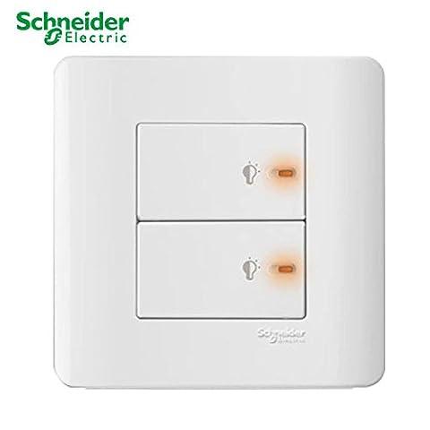Schneider/clipsal Neo E3000E c-metro 86-style Wanddose switch|double pole|dimmer|outlet \ Power point|tel \ Fax \ Netzwerk \ TV socket|skus, E8432EPD3-WE