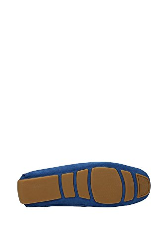 WABLER4666190610 Bally Mocassins Homme Chamois Bleu Bleu