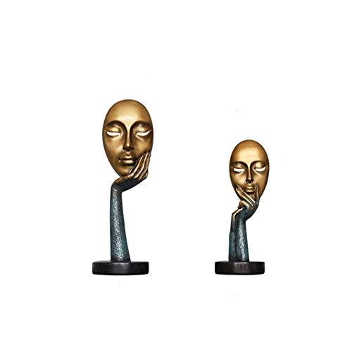 Wham Moon Escultura Estatuilla Estatua Ornamento Artesanía, Resina Máscara Escultura Regalos Ornamento...