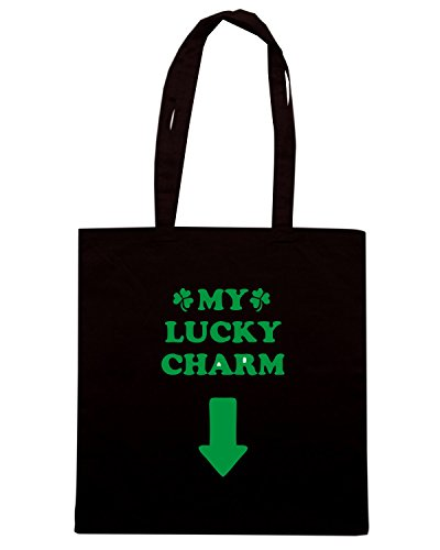 T-Shirtshock - Borsa Shopping TIR0208 st patricks day lucky charm ringer t Nero