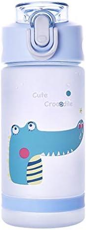 Diller - Botella de agua con pajita para niños y niñas, para deportes, 500 ml, libre de Bpa, botella de plásti