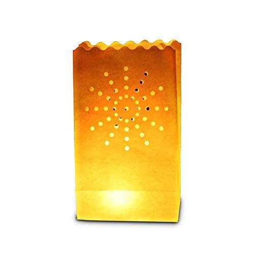30 x sac de bougie lumière de thé en papier ignifuge décoration - motif feu d'artifice