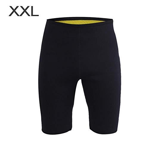 Alomejor Schlankheits-Shorts Neopren Unisex Training Sweat Short Fitness Kurze Hose für Fitness Running Jogging(XXL) -