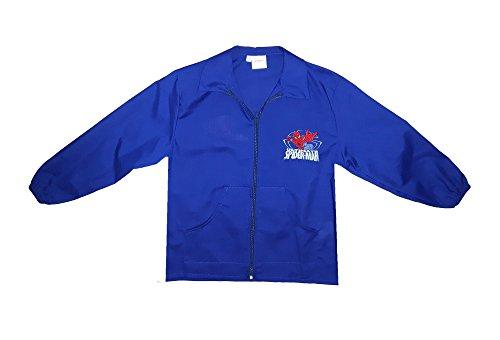 Grembiule scuola bimbo con cerniera spiderman marvel nuova collezione nero o blu g074 (90, blu)