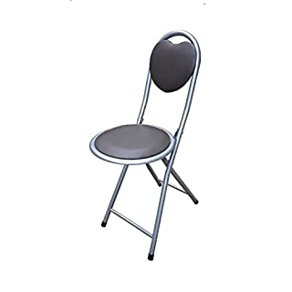 ANZ Children's Folding High Bar Chair Kids Padded Stools Kitchen Party Breakfast New (Black Heart Padded Chair)