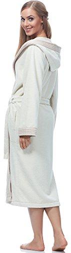 Merry Style Damen Bambusfasern Bademantel MSLL1001 Ecru/Angora