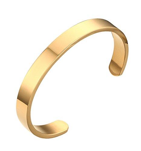 HIJONES Unisex Edelstahl Gold Armreif Armbänder für Damen und Herren Breite - Kostüm Schmuck Armbänder Großhandel