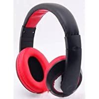 Stile classico Over-Head-Cuffie Stereo, Auricolari con microfono Wireless per Verizon Ellipsis Ellipsis 7/8, colore: nero/rosso, MYNETDEALS