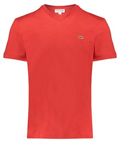 Lacoste Herren T-Shirt rot (500) 5 - Rot Gestreiftes Polo Kleid