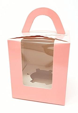 Ibex Single Cupcake Box, pink, 10Stück (Single Cupcake Box)