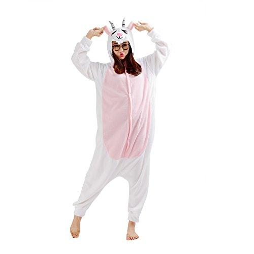 Imagen de cuteon animal carnaval disfraz cosplay pijamas adultos unisex mamelucos homewear ropa de noche cabra large