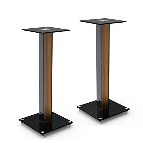 SAVONGA Lautsprecher Boxen Ständer Boxenständer SCHWERLAST HIFI PA Fußbodenständer 522304S, integrierte Kabelführung, Tragkraft bis 10 kg!