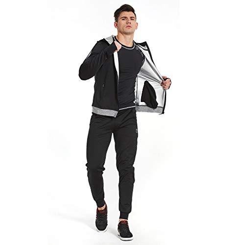 Schnelles Schwitzen Sportanzug Männlicher Schwitzanzug Schwitzende Kleidung Abnehmen Kleidung Gym Laufen Sweat Suit Schwitzende Anzug Sweat Suit (Size : XXL)