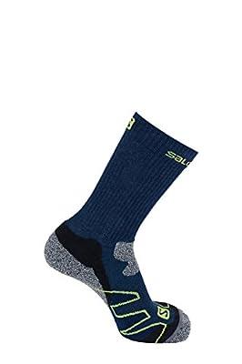 Salomon leichte Wander Socke-n Performance Pro Navy Dunkelblau, gepolsterte Ferse, präzise Passform und Ventilationssystem für trockene Füße von Salomon auf Outdoor Shop